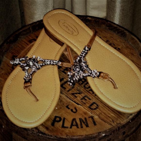 6f5136b564f7 Talbots Jeweled Flat Sandals
